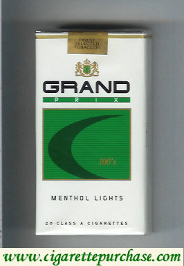Discount Grand Prix 100s Menthol Lights cigarettes soft box
