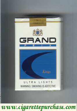 Discount Grand Prix Kings Ultra Lights cigarettes soft box