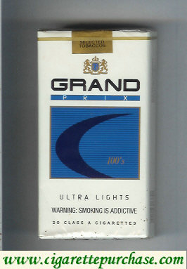 Discount Grand Prix 100s Ultra Lights cigarettes soft box