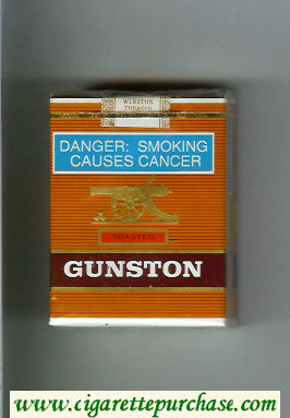 Discount Gunston Toasted Brown Cigarettes soft box