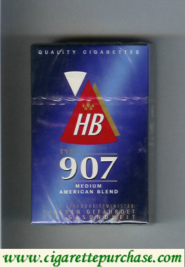 HB 907 Medium American Blend cigarettes hard box