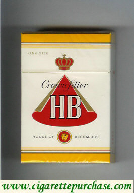 HB Crown Filter House of Bergmann cigarettes hard box
