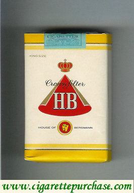 HB Crown Filter House of Bergmann cigarettes soft box