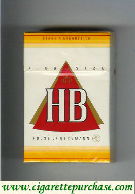 HB House of Bergmann cigarettes hard box
