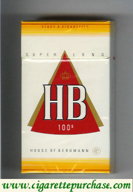 HB 100s House of Bergmann cigarettes hard box