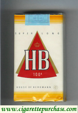 HB 100s House of Bergmann cigarettes soft box