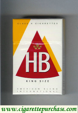 HB King Size cigarettes hard box