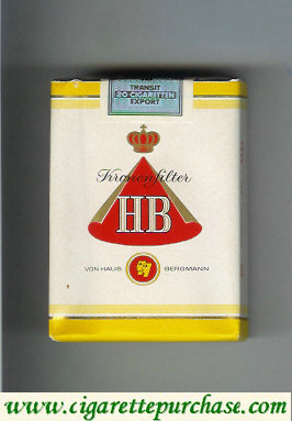 HB Kronen Filter cigarettes soft box