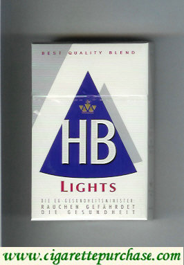 HB Lights Best Quality Blend white and blue cigarettes hard box