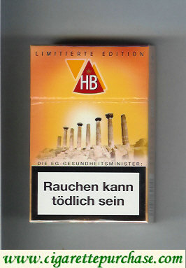HB Limitierte Edition cigarettes hard box