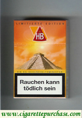 HB hard box cigarettes Limitierte Edition