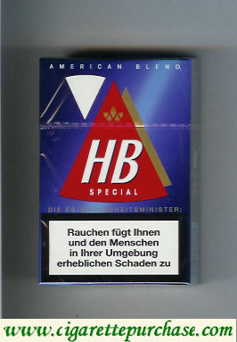 HB Special American Blend cigarettes hard box