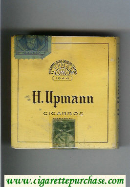 H.Upmann Sigarros cigarettes wide flat hard box