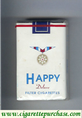 Happy Deluxe Filter cigarettes soft box