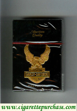 Harley-Davidson Full Flavor cigarettes hard box