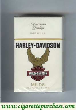 Harley-Davidson Milds cigarettes hard box