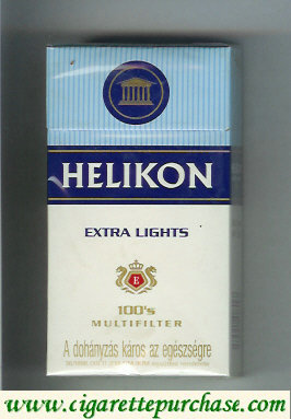 Helikon Extra Lights 100s Multifilter cigarettes hard box
