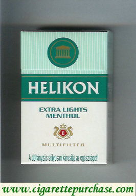 Helikon Extra Lights Menthol Multifilter cigarettes hard box