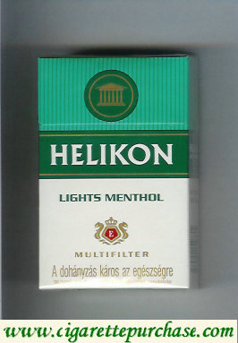 Helikon Lights Menthol Multifilter cigarettes hard box