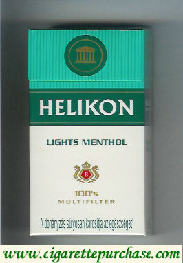Helikon Lights Menthol 100s Multifilter cigarettes hard box