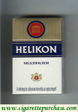 Helikon Multifilter white and gold and blue cigarettes hard box