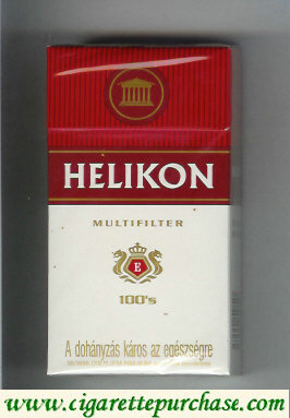 Helikon Multifilter 100s white and red cigarettes hard box