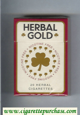 Herbal Gold cigarettes hard box