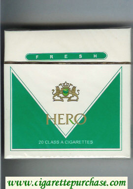 Hero Fresh cigarettes wide flat hard box