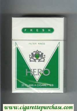 Hero Fresh cigarettes hard box