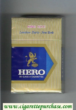 Hero cigarettes hard box