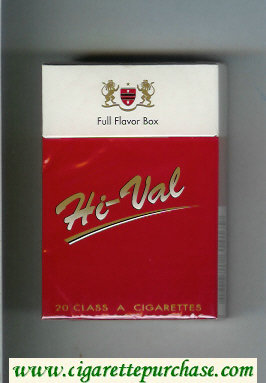 Hi-Val Full Flavor Box cigarettes hard box