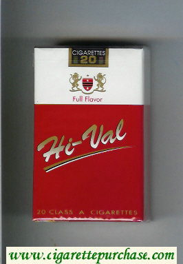Hi-Val Full Flavor cigarettes soft box