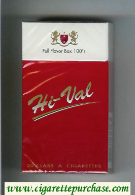 Hi-Val Full Flavor Box 100s cigarettes hard box