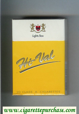 Hi-Val Lights Box cigarettes hard box