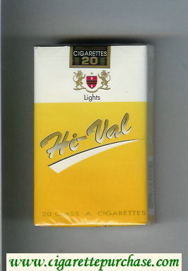 Hi-Val Lights cigarettes soft box