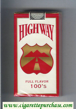 Highway Full Flavor 100s cigarettes soft box