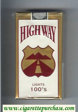 Highway Lights 100s cigarettes soft box