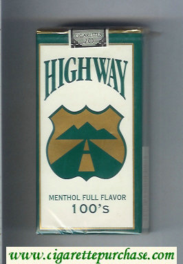 Highway Menthol Full Flavor 100s cigarettes soft box