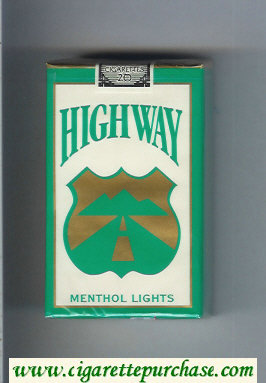 Highway Menthol Lights cigarettes soft box