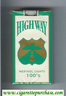 Highway Menthol Lights 100s cigarettes soft box