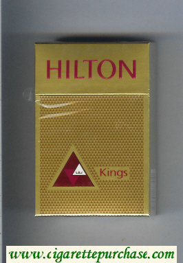Hilton Kings gold with triangle cigarettes hard box