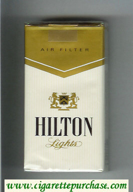 Hilton Lights Air Filter 100s cigarettes soft box