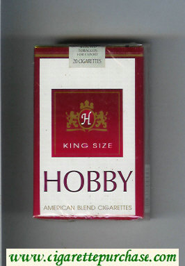 Hobby King Size American Blend cigarettes soft box