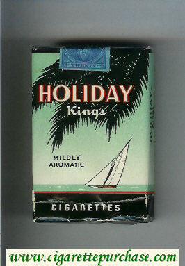 Holiday Kings Mildly Aromatic cigarettes soft box
