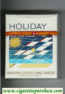 Holiday Extra Mild 50s cigarettes hard box