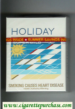 Holiday Super Mild 50s cigarettes hard box