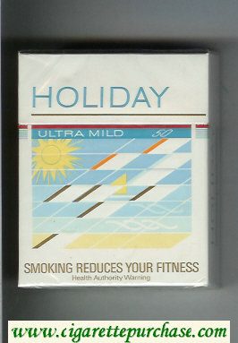 Holiday Ultra Mild 50s cigarettes hard box