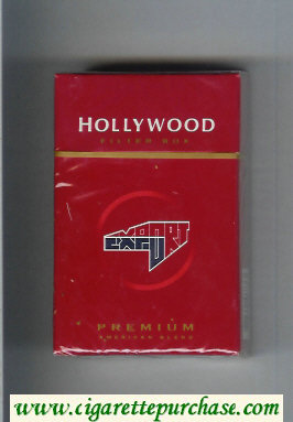 Hollywood Filter Box Premium American Blend cigarettes hard box