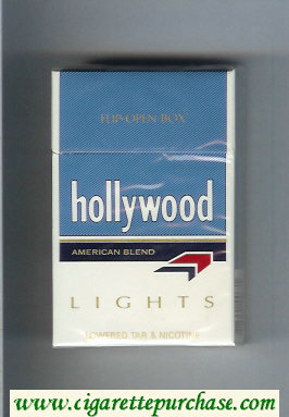 Hollywood American Blend Lights cigarettes hard box