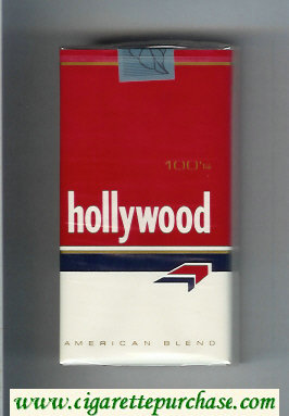 Hollywood 100s American Blend cigarettes soft box